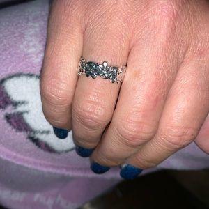 Flower Daisy Trail Stackable Finger Ring For Women